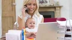 Декрет - як заробити молодій матусі?
