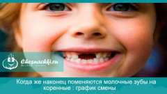 Коли ж нарешті поміняються молочні зуби на корінні: графік зміни