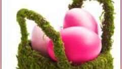 """Кошик з квітами і крашанками """"весняний настрій"""""""