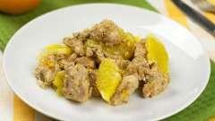 Куряче філе з апельсинами в духовці рецепт