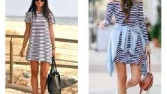 Модне смугасте плаття - відмінний варіант на літо
