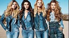 Модні джинсові комбінезони