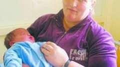 На україні жінка народила великого малюка