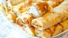Оригінальні рецепти млинців з сиром