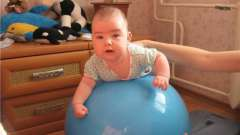 Користь занять на фітбол для немовлят