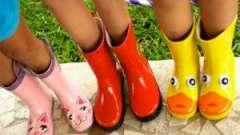 Гумові чобітки: нам калюжі не страшні!