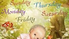 Тема уроку: «дні тижня». Дні тижня англійською з вимовою